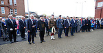 Rangers staff and members of the armed forces at the service at Ibrox