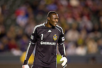 LA Galaxy goalkeeper Donovan Ricketts on his way to another clean sheet. The LA Galaxy defeated Chivas USA 2-0 during the Super Clasico at Home Depot Center stadium in Carson, California Thursday evening April 1, 2010.  .