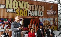 SAO PAULO, SP, 11 JANEIRO 2013 - POSSE SECRETARIO DIREITO HUMANOS - Cerimônia de posse do secretário Rogério Sotilli (foto) que assume o lugar de Jose Gregorio (foto) como Presidente da Comissão de Direitos Humanos do Município de São Paulo. A cerimonia realizada na manha desta sexta-feira(11) no jardim interno do Pátio do Colégio na Rua Bela Vista regiao central de Sao Paulo. (FOTO: AMAURI NEHN / BRAZIL PHOTO PRESS).