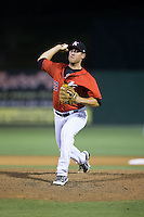 Kannapolis Intimidators relief pitcher Brad Salgado (22) in action against the Lexington Legends at CMC-Northeast Stadium on May 26, 2015 in Kannapolis, North Carolina.  The Intimidators defeated the Legends 4-1.  (Brian Westerholt/Four Seam Images)