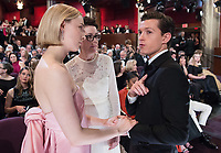 Saoirse Ronan, Oscar&reg; nominee for Best Actress in a Leading Role, and Tom Holland at The 90th Oscars&reg; at the Dolby&reg; Theatre in Hollywood, CA on Sunday, March 4, 2018.<br /> *Editorial Use Only*<br /> CAP/PLF/AMPAS<br /> Supplied by Capital Pictures