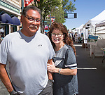 A photograph taken during Art Fest on Sunday July1, 2018 in downtown Reno.
