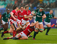 9th February 2020; Energia Park, Dublin, Leinster, Ireland; International Womens Rugby, Six Nations, Ireland versus Wales; Anna Caplice of Ireland is tackled
