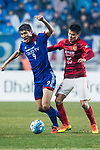 Suwon Forward Park Gidong (L) fights for the ball with Guangzhou Defender Zou Zheng (R) during the AFC Champions League 2017 Group G match Between Suwon Samsung Bluewings (KOR) vs Guangzhou Evergrande FC (CHN) at the Suwon World Cup Stadium on 01 March 2017 in Suwon, South Korea. Photo by Victor Fraile / Power Sport Images