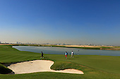 Bernie McGuire, Derek Lawrenson, Eoin Clarke and Stuart Adams play Al Zorah Golf Club for the first time during the 2016 Omega Dubai Desert Classic : Picture Stuart Adams, www.golftourimages.com: 06/02/2016