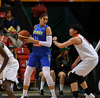 20200206 – OOSTENDE ,  BELGIUM : Swedish Amanda Zahui (17) pictured with Japanese Ramu Tokashiki (10) during a basketball game between the national teams of Japan and Sweden on the first matchday of the FIBA Women's Qualifying Tournament 2020 , on Thursday 6  th February 2020 at the Versluys Dome in Oostende  , Belgium  .  PHOTO SPORTPIX.BE | DAVID CATRY