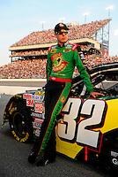 May 2, 2008; Richmond, VA, USA; NASCAR Nationwide Series driver Kyle Busch prior to the Lipton Tea 250 at the Richmond International Raceway. Mandatory Credit: Mark J. Rebilas-US PRESSWIRE