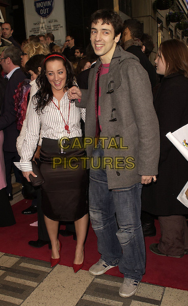 "RALPH LITTLE & GUEST.Outside arrivals for ""Movin' Out"" Opening Night, .Apollo Victoria Theatre, London, England, .April 10th 2006..full length ralf.Ref: CAN.www.capitalpictures.com.sales@capitalpictures.com.©Can Nguyen/Capital Pictures"