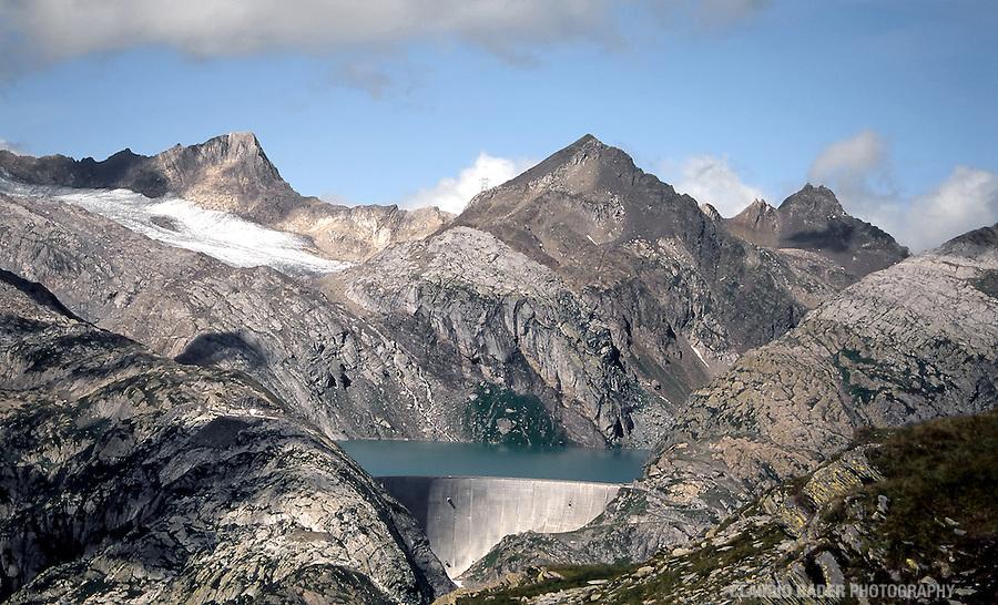 Schweiz, Berge, Tessin, Staudamm, Gletscher, Basodino, Maggiatal