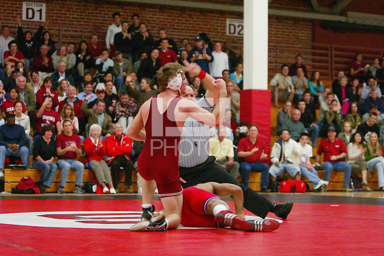 4 February 2005: Stanford Cardinal Ryan Hagen during Stanford's 25-12 loss to Fresno State at Burnham Pavilion in Stanford, CA.
