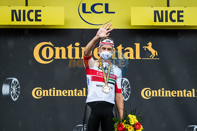Alexander Kristoff (NOR) UAE Team Emirates wins Stage 1 of Tour de France 2020, running 156km from Nice Moyen Pays to Nice, France. 29th August 2020.<br /> Picture: ASO/Alex Broadway | Cyclefile<br /> All photos usage must carry mandatory copyright credit (© Cyclefile | ASO/Alex Broadway)