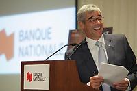 September6, 2012 - Montreal (Quebec) CANADA - <br /> Cabaret sur le Mont-Royal News Conference, hosted by Louis Vachon, CEO Bank Nationale with Pierre Boivin, Claridge, Jean Fabi, President Flex Group and artists Remy Girard and France d'Amour. IN PHOTO : Pierre Boivin<br /> <br /> Cabaret sur le Mont-Royal  is a yearly fundraiser event where CEO and executives sing songs and play intrusments for Quebec Society for Disabled Children.<br /> <br /> <br /> FRENCH CAPTION - LEGENDE EN FRANCAIS:<br /> <br /> Le prÈsident et chef de la direction de la Banque Nationale, Monsieur Louis Vachon, est l'hÙte d'une rencontre de presse au cours de laquelleon ÈtÈ dÈvoilÈs les dÈtails d'une soirÈe spÈciale de collecte de fonds mettant en scËne des chefs d'entreprises de renom qui troqueront bilans, Èvaluations actuarielles et plans d'affaires pour des guitares Èlectriques et claviers. Un ÈvÈnement unique au profit de la SociÈtÈ pour les enfants handicapÈs du QuÈbec avec la participation spÈciale de France D'Amour, RÈmy Girard et Dominica Merola.