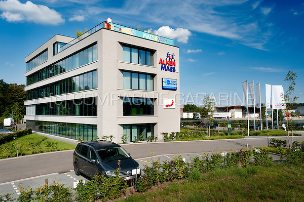The headquarters of the brewery concern Alken-Maes in Mechelen (Belgium, 05/08/2014)