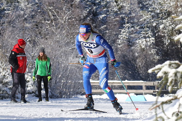 Cross Country Ski World Cup 2018 FIS in Dobbiaco, Toblach, on December 16, 2017; Ladies 10 Km Interval Start Free technique ; Elisa Brocard (ITA)<br /> &copy; Pierre Teyssot / Pentaphoto