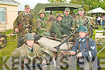 Member's of Battle Group South showing their vintage German transport and battle equipment at the Ardfert Summer Fest on Sunday front l-r: Claudio Cavaliere and Tony O'Halloran. Back l-r: Ger McCarthy, Lorcan Barry, Dave Swift, Dave Lloyd and Tony Price.