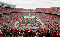 Ohio State's football team takes the field prior to the NCAA football game against Illinois at Ohio Stadium in Columbus, Ohio, on Nov. 3, 2012. (Adam Cairns / The Columbus Dispatch)