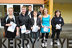 GLAD: Leaving Certificate students from Pobailscoil Inbhear Scéine, Kenmare, who were delighted with their results on Wednesday morning. Pictured are Ashling Urwin, Rory O'Donoghue, Chris Woods, Leo Gissinger, JJ Riordan, Ann-Marie Mahony and Tara Woods.