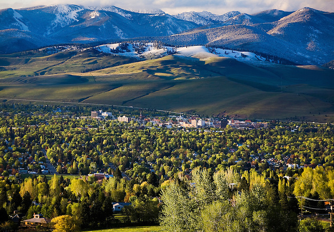 The Missoula, Montana valley and the north hills in early May