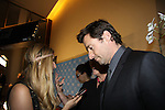 "Bravo's Long Island Princess, Chanel Omari, interviews Hugh Jackman on the red carpet as he is honored as David Lynch Foundation presents ""Change Begins Within"" - a benefit and gala celebrating service of veterans and first responders in New York City hosted by David Lynch and Jerry Seinfeld on December 3, 2013 at the Conrad NYC, New York. (Photo by Sue Coflin/Max Photos)"