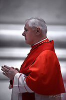 Cardinal Gerhard Ludwig Müller.  Pope Francis the ceremony of the Good Friday Passion of the Lord Mass in Saint Peter's Basilica at the Vatican.March 30, 2018