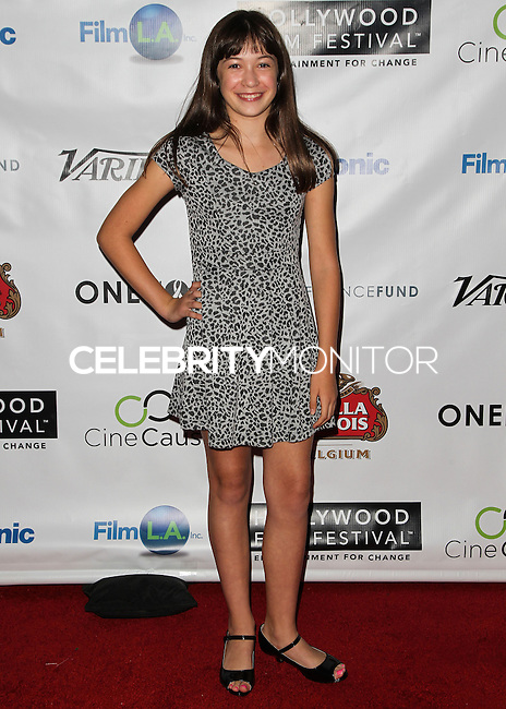 HOLLYWOOD, LOS ANGELES, CA, USA - OCTOBER 16: Grace Kaufman arrives at the 2014 Hollywood Film Festival - Opening Night Gala held at ArcLight Hollywood on October 16, 2014 in Hollywood, Los Angles, California, United States. (Photo by Celebrity Monitor)