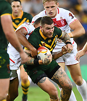 Josh Dugan.<br /> RLWC Mens Final.<br /> Australia v England.<br /> Suncorp Stadium. Brisbane, Australia<br /> Saturday 2 December 2017.<br /> Picture : NRL Photos MANDATORY CREDIT/BYLINE : NRL PHOTOS