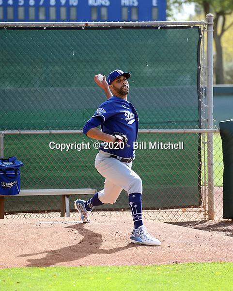 David Price - Los Angeles Dodgers 2020 spring training (Bill Mitchell)