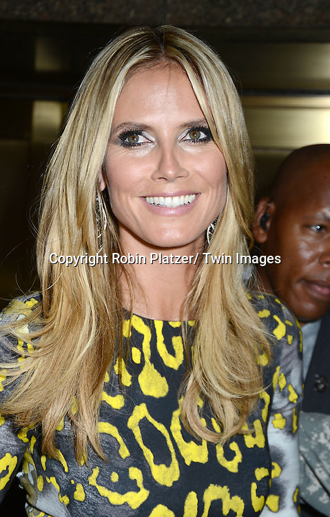 "Heidi Klum attends the ""America's Got Talent"" 1st live show at Radio City Music Hall on July 23, 2013 in New York City."