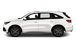 Car Driver side profile view of a 2019 Acura MDX A-Spec 5 Door SUV Side View
