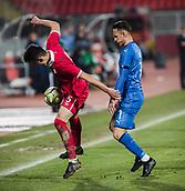 27th March 2018, Karadjorde Stadium, Novi Sad, Serbia; Under 21 International Football Friendly, Serbia U21 versus Italy U21; Erhan Masovic shileds the ball against Forward Simone Edera of Italy