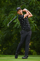 Kevin Na (USA) watches his tee shot on 6 during round 2 of the 2019 Charles Schwab Challenge, Colonial Country Club, Ft. Worth, Texas,  USA. 5/24/2019.<br /> Picture: Golffile   Ken Murray<br /> <br /> All photo usage must carry mandatory copyright credit (© Golffile   Ken Murray)