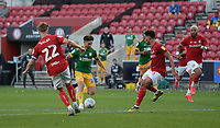 Preston North End's Sean Maguire breaks into the box<br /> <br /> Photographer Ian Cook/CameraSport<br /> <br /> The EFL Sky Bet Championship - Bristol City v Preston North End - Wednesday July 22nd 2020 - Ashton Gate Stadium - Bristol <br /> <br /> World Copyright © 2020 CameraSport. All rights reserved. 43 Linden Ave. Countesthorpe. Leicester. England. LE8 5PG - Tel: +44 (0) 116 277 4147 - admin@camerasport.com - www.camerasport.com