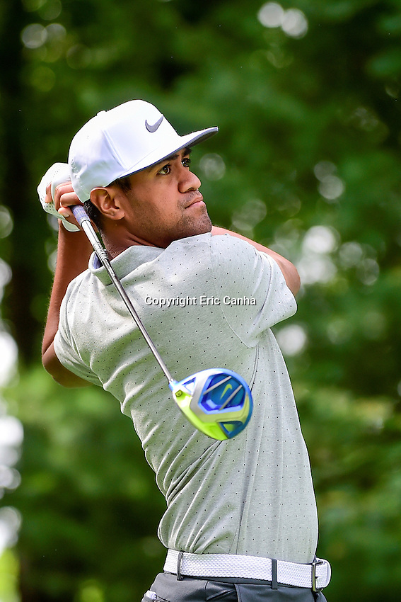 Saturday, September 3, 2016: Tony Finau watches the flight of his ball from the 9th tee during the second round of the Deutsche Bank Championship tournament held at the Tournament Players Club, in Norton, Massachusetts.  Eric Canha/Cal Sport Media