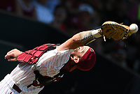 NWA Democrat-Gazette/CHARLIE KAIJO South Carolina catcher Hunter Taylor during the second game of the NCAA super regional baseball, Sunday, June 10, 2018 at Baum Stadium in Fayetteville. Arkansas fell to South Carolina 5-8.