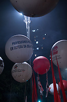 """SÃO PAULO,SP, 20.07.2017 - LULA-SP - Manifestantes ocupam as duas pistas da Avenida Paulista, em São Paulo, na altura do Masp, para ato em apoio ao ex-presidente Luiz Inácio Lula da Silva, pelo """"fora, Temer"""", """"Diretas Já"""" e contra as reformas trabalhista e da Previdência, nesta quinta-feira, 20 (Foto: Ciça Neder/ Brazil Photo Press)"""