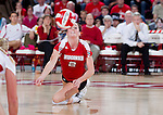 Wisconsin Badgers Kim Kuzma (2) hits the ball during an NCAA volleyball match against the Michigan Wolverines at the Field House on October 30, 2010 in Madison, Wisconsin. Michigan won the match 3-1. (Photo by David Stluka)