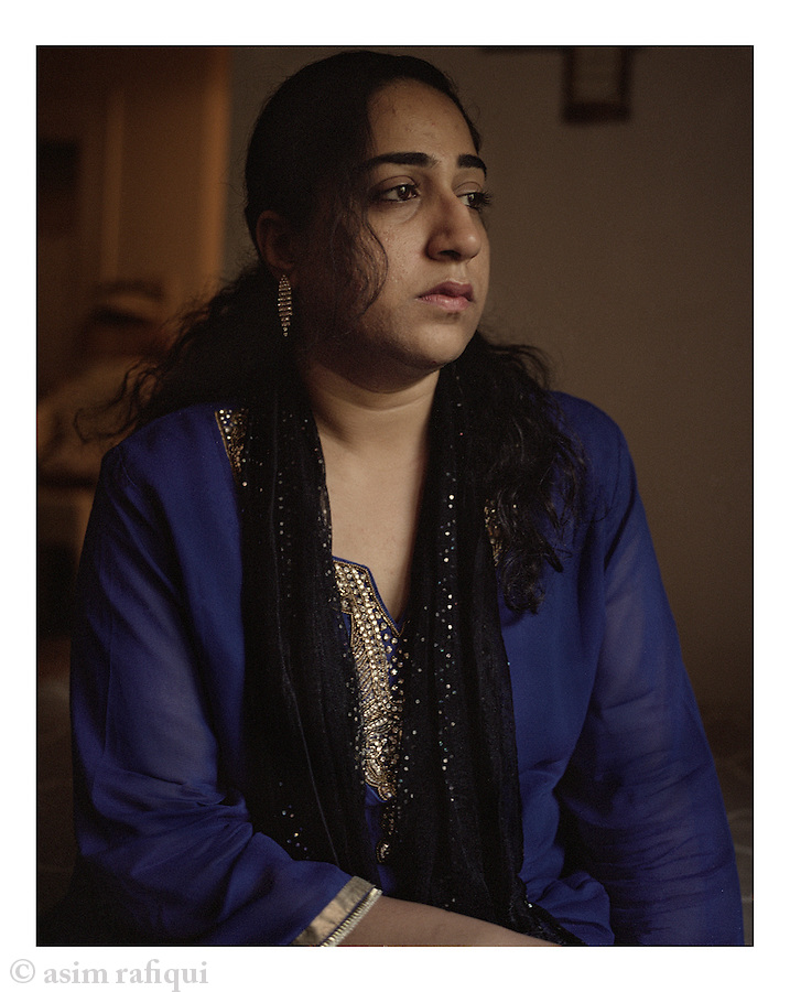Portrait of Saniya Matin, sister of Shahawar Matin Siraj, a 22-year old Pakistani-born resident of Astoria, New York. Shahawar Matin was entrapped into joining a terror plot orchestrated and designed by two NYPD informants James Elshafay and Dawadi.