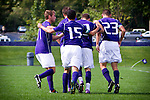 Quinton Beasley - Brent Richards, Jamie Finch, UW mens soccer vs UAB.  Photo by Rob Sumner / Red Box Pictures.
