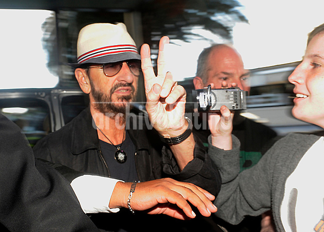 Former Beatle Ringo Starr arrives to Buenos Aires, Argentina.