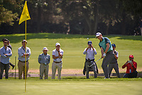 Jordan Spieth (USA) chips on to 15 during round 3 of the World Golf Championships, Mexico, Club De Golf Chapultepec, Mexico City, Mexico. 2/23/2019.<br /> Picture: Golffile | Ken Murray<br /> <br /> <br /> All photo usage must carry mandatory copyright credit (© Golffile | Ken Murray)