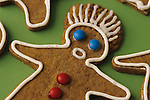 Gingerbread cookies with mad/angry/confused faces, reacting to the hectic pace at Christmas/Holiday time, Marysville, Washington State   USA