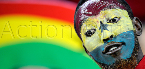 A fan of Ghana attends the 2010 FIFA World Cup Quarter Final soccer match between Uruguay and Ghana at Soccer City Stadium on June 02, 2010 in Johannesburg, South Africa.