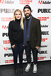 """Annaleigh Ashford and Joe Tapper attends the """"Sea Wall / A Life"""" opening night at The Public Theater on February 14, 2019, in New York City."""