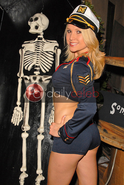 Alana Curry<br /> preparing for the annual Halloween Bash at the Playboy Mansion, Private Location, Los Angeles, CA. 10-24-09<br /> David Edwards/DailyCeleb.com 818-249-4998