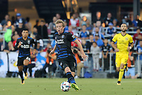 San Jose, CA - Saturday August 05, 2017: Jackson Yueill during a Major League Soccer (MLS) match between the San Jose Earthquakes and the Columbus Crew at Avaya Stadium.