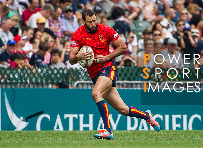 Zimbabwe vs Spain during the HSBC Sevens Wold Series Qualifier Semi Finals match as part of the Cathay Pacific / HSBC Hong Kong Sevens at the Hong Kong Stadium on 29 March 2015 in Hong Kong, China. Photo by Manuel Bruque / Power Sport Images