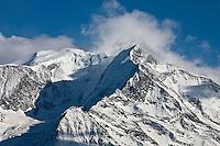 Europe/France/Rhône-Alpes/74/Haute-Savoie/Megève:  Le  Mont Blanc vu depuis la terrasse du  Chalet d'altitude, restaurant: L'Idéal  1850 au sommet du Mont d'Arbois