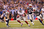 New York Giants wide receiver Hakeem Nicks (88) carries the ball after a reception during the NFL Super Bowl XLVI football game against the New England Patriots on Sunday, Feb. 5, 2012, in Indianapolis. The Giants won 21-17 (AP Photo/David Stluka)...