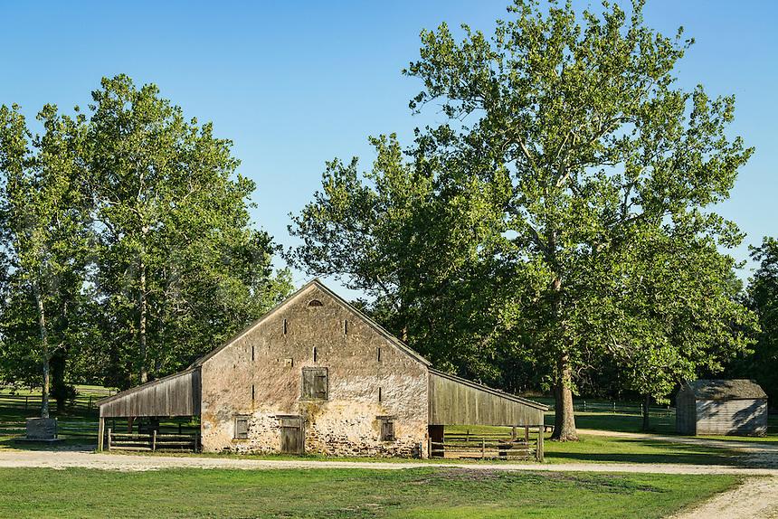 Stone barn, Historic Batsto Village, Wharton State Park, Pine Barrens, New Jersey, USA