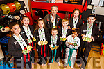 The students of Black Belt Martial Arts Academy, Tralee who won 4 world titles, plus 14 gold and silver medals at the 2019 ISKA World Championships in Cork last weekend.   <br />  L to r: Ciara Framptom, Emily Keane, Caitlin Diggin, Alan Guilfoyle (Coach), Harry and Jack Maguire, Dominic Fako, Rachel Prenderville and Isabel Shaw
